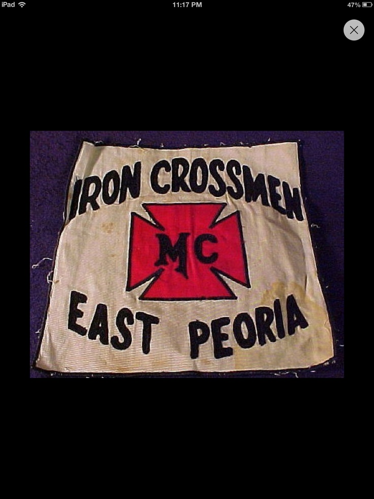 Iron Crossmen MC East Peoria: Crossman Motorcycles, Vintage Motorcycles, Motorcycles Club, Biker Patches, Biker Club, Club Peoria, Irons Crossman, Irons Crossmen, East Peoria