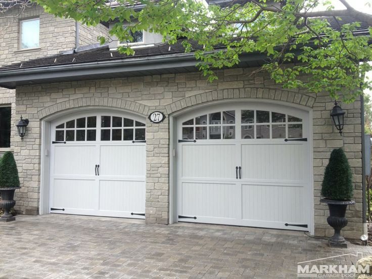 Carriage house, hand built garage doors