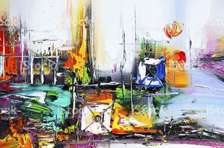 Painting background - Large scale Abstract oil Painting On Canvas royalty-free stock photo