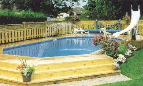 15' x 25' Emerald Shape On Ground Pool Kit - Complete   54676