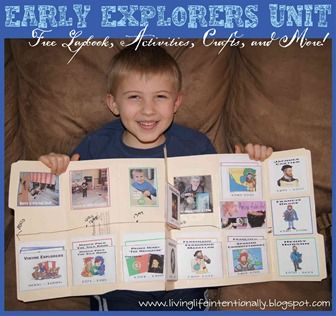 5th and final unit in Early Explorers Unit - Activities, Free lapbook, unit study, and book recommendations. (Has links to rest of explorers units as well)