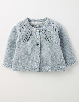 Soft Bluebell Cozy Baby Cardigan Boden