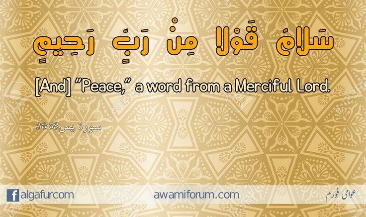 "#quranic_quotes #quran_quotes #al_quran #quran #quranic_verses  سَلَامٌ قَوْلًا مِّن رَّبٍّ رَّحِيمٍ [And] ""Peace,"" a word from a Merciful Lord.   سورة يس36:58"