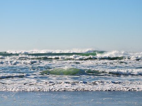Beach, Waves, Ocean, Pacific, Water