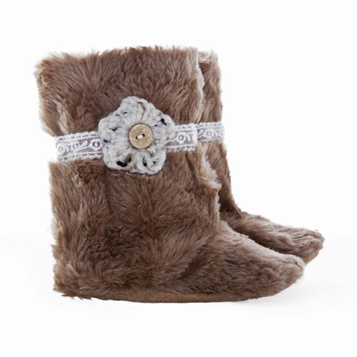 Boots - Fawn Fur & Lace - Boots - Baby Belle