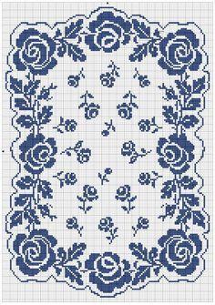Point de croix *m@* Cross stitchroses et rosettes free cross stitch chart