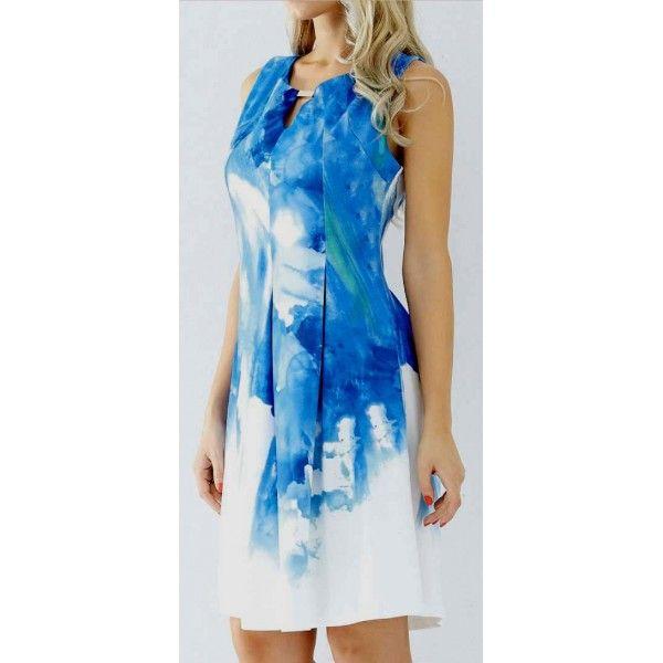 Hoyan Digital Watercolour Print Dress
