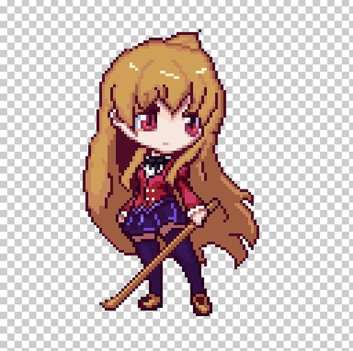 Pixel Art Taiga Aisaka Toradora Png Aesthetics Anime Art Artist Cartoon Pixel Art Anime Pixel Art Toradora