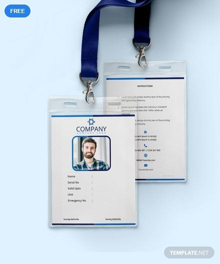 Free Office Blank Id Card Template Word Doc Apple Mac Pages Publisher Id Card Template Card Templates Free Blank Id Cards