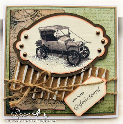 Rosina's Scrapcards: Mannenkaart