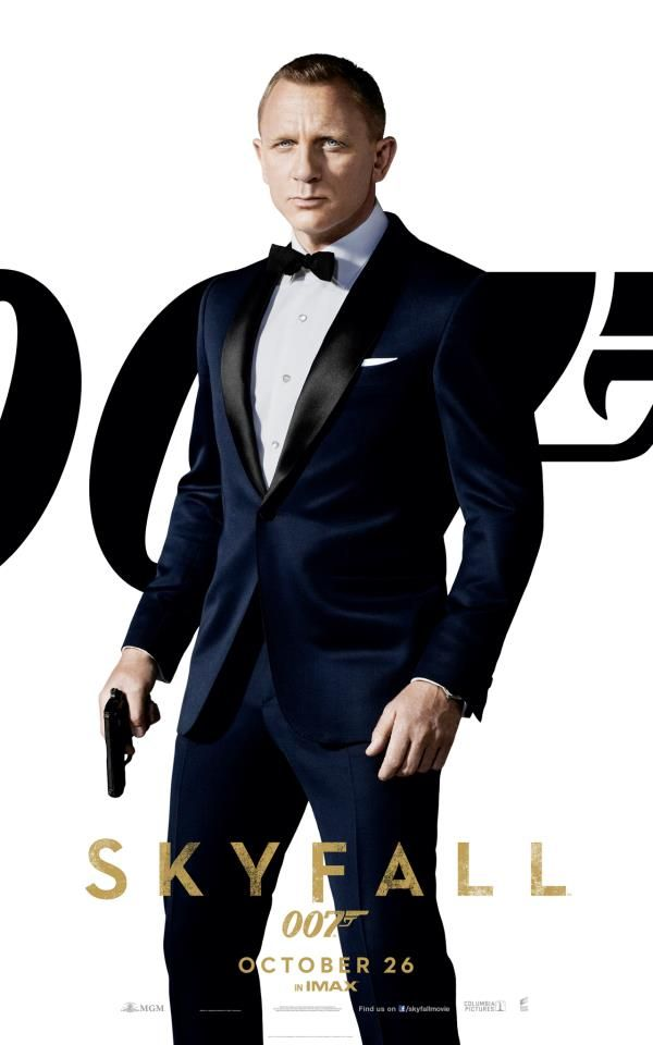 Skyfall, 2012 (MGM, Columbia Pictures, Danjaq, Eon Productions)  UK cinema poster.  Daniel Craig as Bond.  Daniel Craig is back as James Bond 007 in Skyfall, the 23rd adventure in the longest-running film franchise of all time.  In Skyfall, Bond's loyalty to M (Judi Dench) is tested as her past comes back to haunt her.  As MI6 comes under attack, 007 must track down and destroy the threat, no matter how personal the cost.  Directed by Sam Mendes.