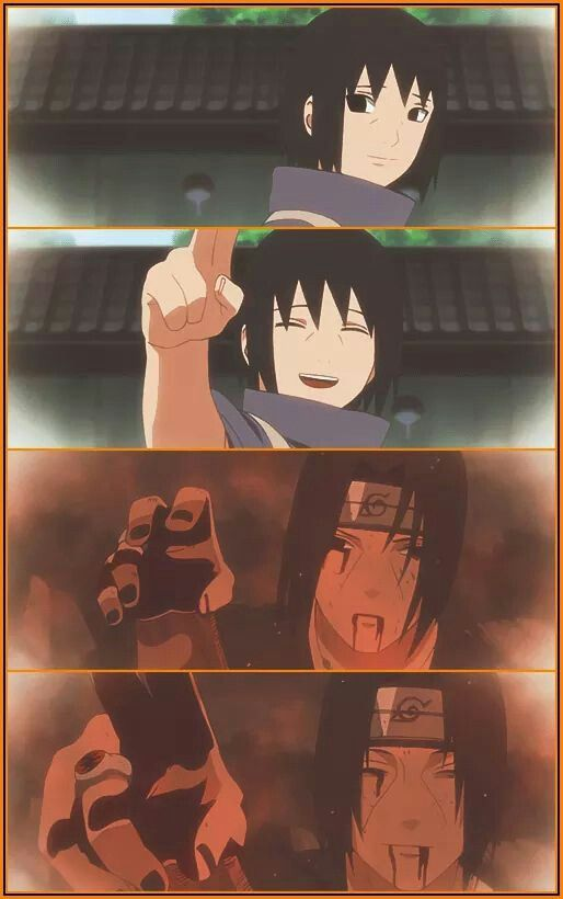 Beloved Itachi! <3 I just can't control my tears in the last two scene... :(