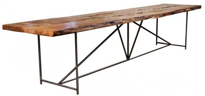 lange keukentafel stalen frame