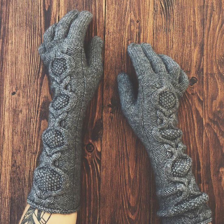 Длинные перчатки из смеси яка и мериноса, на руку 19-19,5см