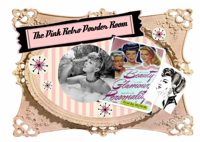 The Pink Retro Powder Room  A blog about vintage hairstyles filled with how-to photos.: Vintage Hairstyles, Style Hair, Vintage Makeup, Hair Makeup, Retro Powder, Hair Looks, Pink Retro, Powder Rooms, Vintage Style