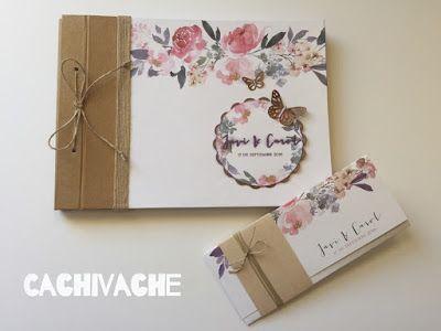 cachivache: Libro de firmas para boda a juego con la tarjeta d...