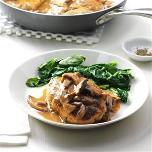 Turkey Salisbury Steaks Recipe- Recipes  My mother always made Salisbury steak. When I married, I developed my own, and it just may be the recipe my husband asks for the most. —Leann Doyle, Patchogue, NY