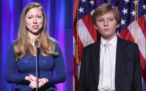 元ファースト・チルドレンのチェルシー・クリントンが、バロン・トランプを擁護