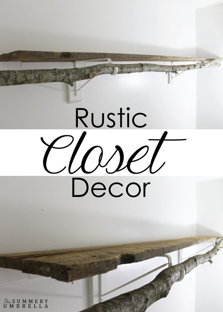 Are you in love with rustic closet decor as much as me? Then you'll definitely want to check out these super easy ways to implement into your own closet!