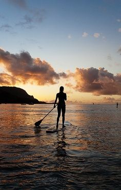 Stand up paddling.