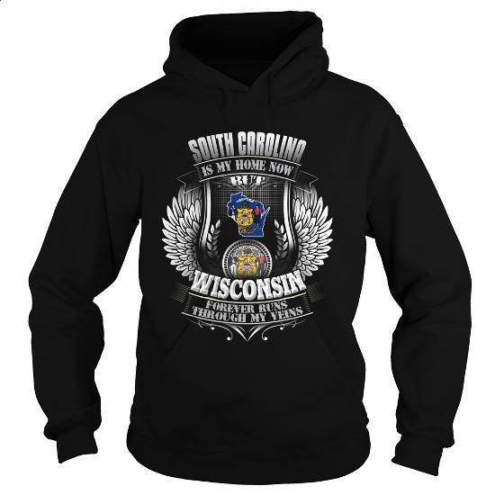 020-SOUTH CAROLINA IS MY HOME NOW BUT WISCONSIN FOREVER RUNS THROUGH MY VEINS - #t shirt designs #cool shirt. MORE INFO => https://www.sunfrog.com/LifeStyle/020-SOUTH-CAROLINA-IS-MY-HOME-NOW-BUT-WISCONSIN-FOREVER-RUNS-THROUGH-MY-VEINS-103398500-Black-Hoodie.html?60505