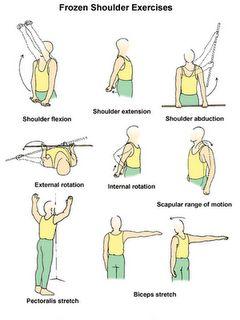 Frozen shoulder or stiff shoulder exercises