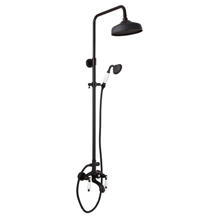 294.27$  Watch now - http://alivfy.worldwells.pw/go.php?t=32704786183 - European Copper Shower Nozzle Shower Faucet Set Retro Black Bronze Elevating Shower Shower Faucet 294.27$