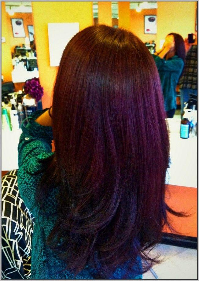 burgundy plum hair ideas