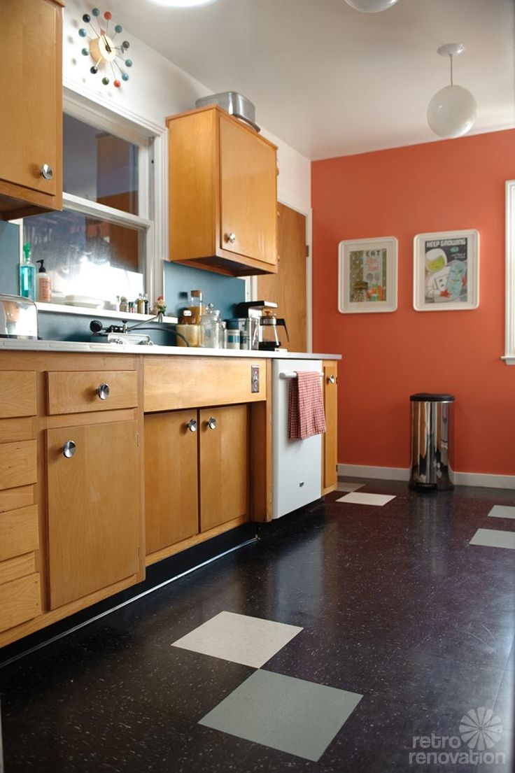 Retro Kitchen Flooring 17 Best Images About Kitchen Floor Ideas On Pinterest Kitchen