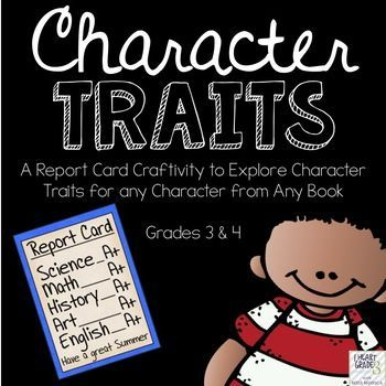 Let your students become the teacher by giving them control over report cards! With this craftivity, students will be evaluating the character traits of 1 character in the book or story that they are reading.