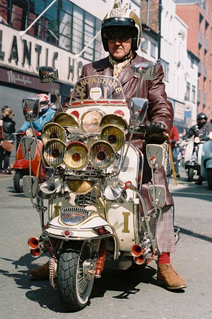Taken on a Olympus OM40, Fuji Superia Film, St George's Day Parade 2017 Manchester, England  #vespa, #scooter, #lambretta, #manchester, #england, #fuji, #streetphotography, #uk, #vinatge, #photography