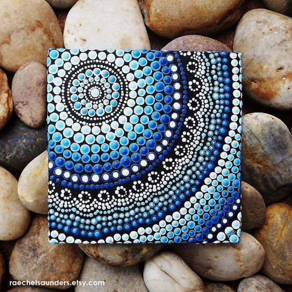 Aboriginal Dot Art, Hand Painted Original, Acrylic paint on Canvas Board…