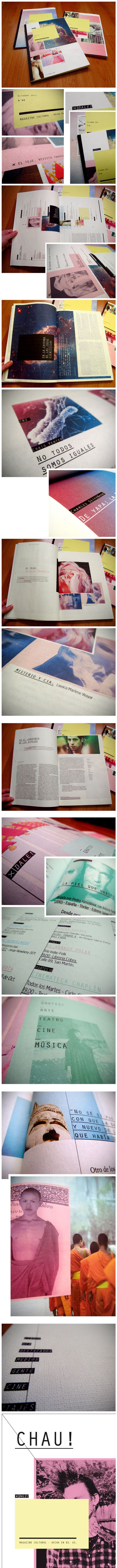 DALE! magazine cultural by Florencia Buraschi, via Behance #layout #magazine #pulication
