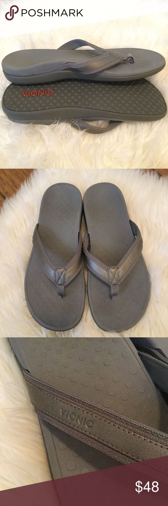 VIONIC Orthaheel Tide lll Grey Flip Flop Sandals VIONIC Orthaheel Tide lll Grey Flip Flop Sandals  Size 10 Vionic Shoes Sandals