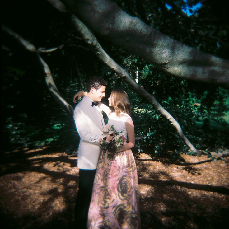 New York City Wedding Greenwich Hotel Wave Hill Flowers by Saipua Photography by Jillian Mitchell Dior Dress Calvin Klein Suit Holga