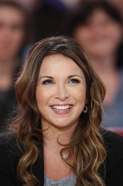 Hélène Segara lors de l'enregistrement de «Vivement Dimanche» Zaz, le 16 décembre 2014