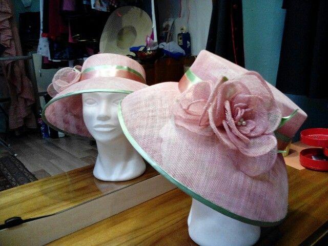 Ice cream colour summer hat by Ozmonda #OzmondaHatGallery #couturehat