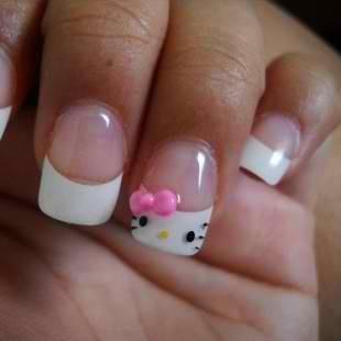 nail, kitty.I love Hello Kitty