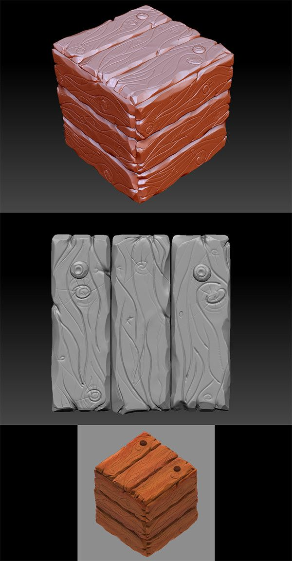 ArtStation - ZBrush Wood Work, Anna Smirnoff