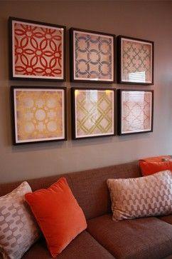 Frame pretty fabric for easy artwork!