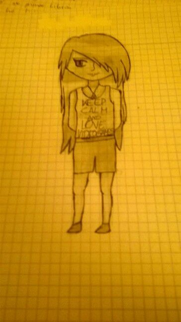 This is a drawing of an anonimous girl. Well, I think it's good...