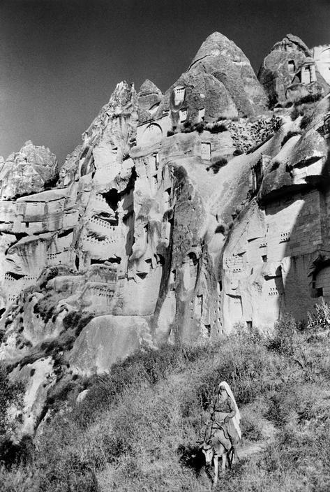 View image only Ara Guler TURKEY. Anatolia. Cappadocia. pigeon houses build inside limestone cliffs. 1975.