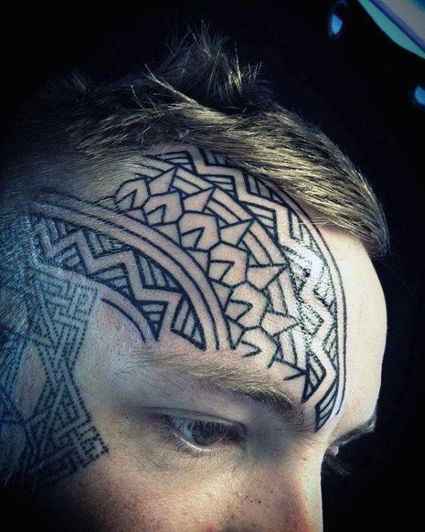 62888466c 90 Face Tattoos For Men - Masculine Design Ideas | Tattoos | Tattoos ...