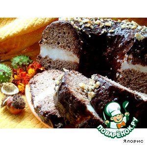 """Шоколадный кекс с рикоттой """"Осеннее кольцо"""""""