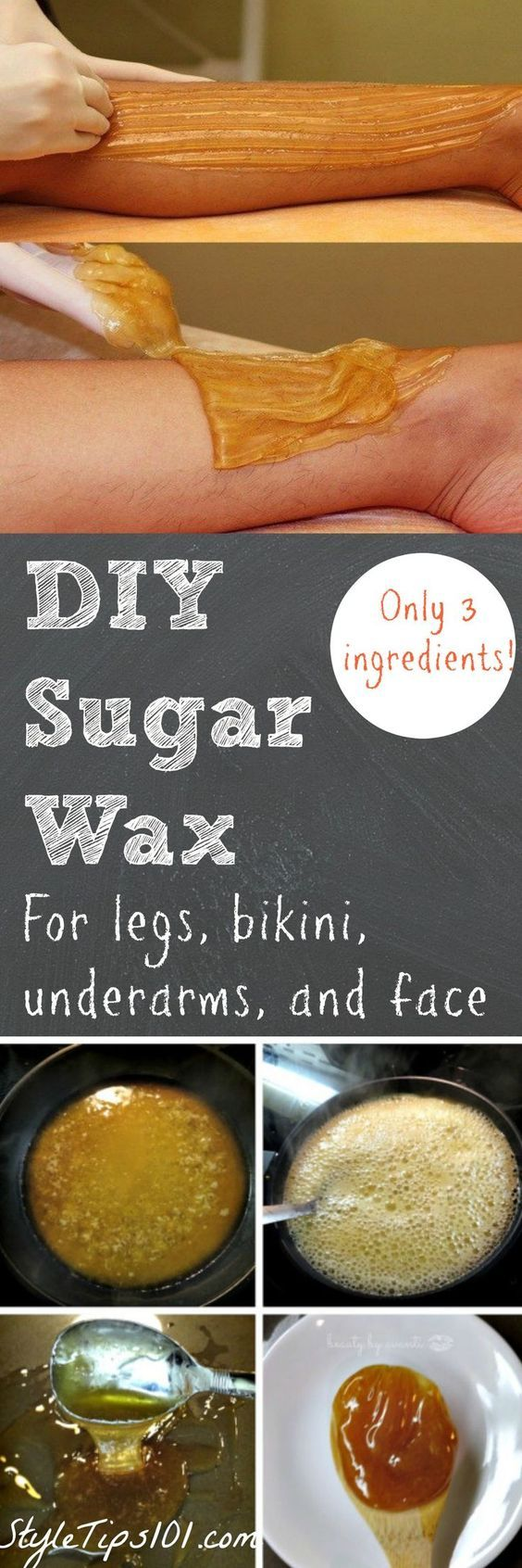 Sugar + water + lemon juice = the BEST waxing method you