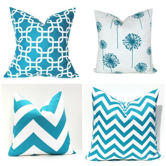 turquoise pillow turquoise decor aqua pillow