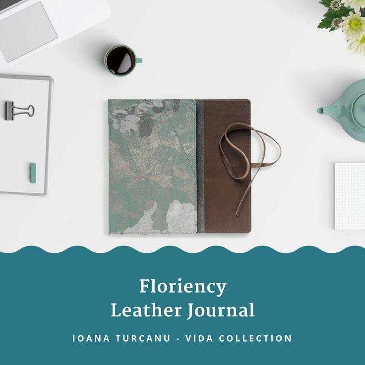 Floriency-Leather Journal