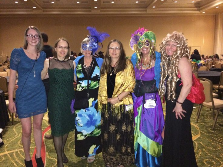 At Heather Graham's Mardi Gras party with Jane Stewart, Pamela Worlton, Sharon Page and friends