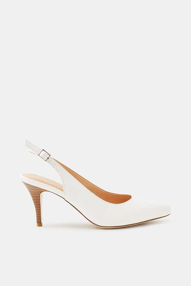 4bdb9c358b55 Esprit - Slingback court shoes in smooth faux leather at our Online Shop
