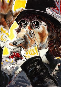 please allow me by ronnie wood    http://www.ronniewoodexhibition.com/